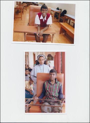 Aangepaste stoel school